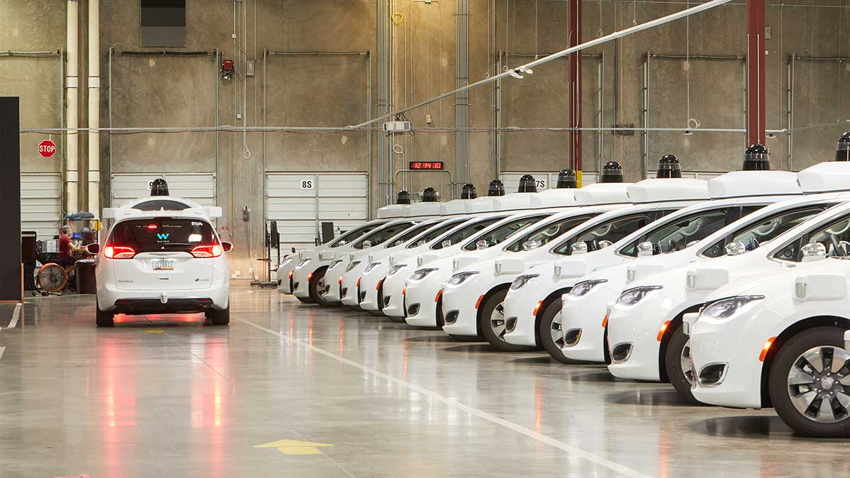 Waymo's depot in Chandler, Ariz.