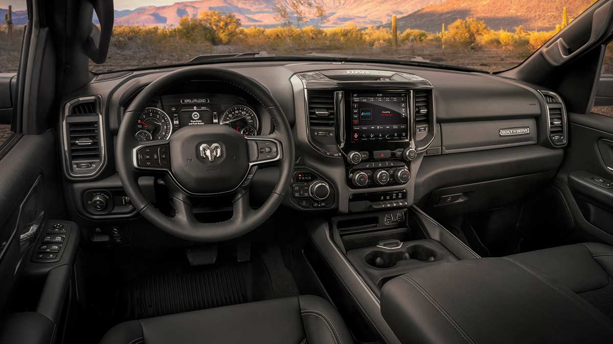 The interior of a recalled Ram Truck.