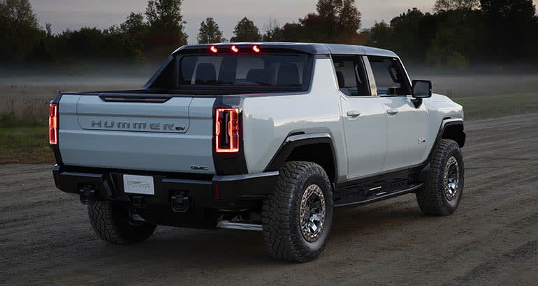 2022 GMC Hummer EV from the side