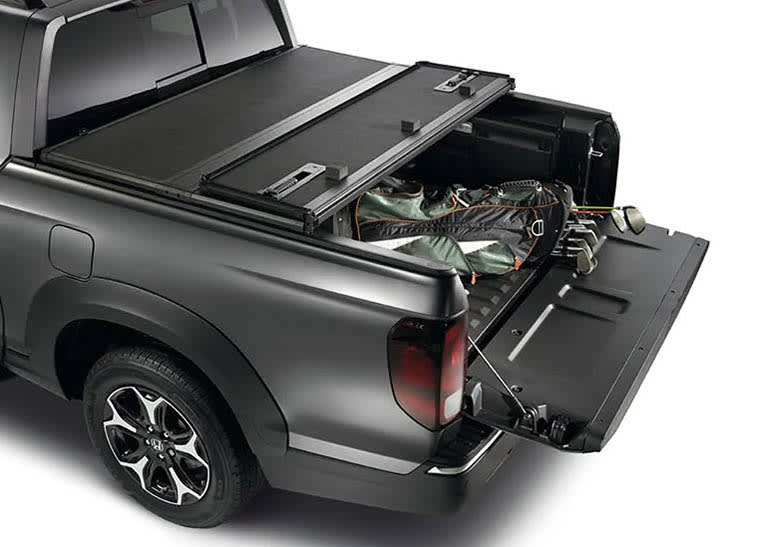 A photo of the tonneau cover on the Honda Ridgeline, which has been recalled
