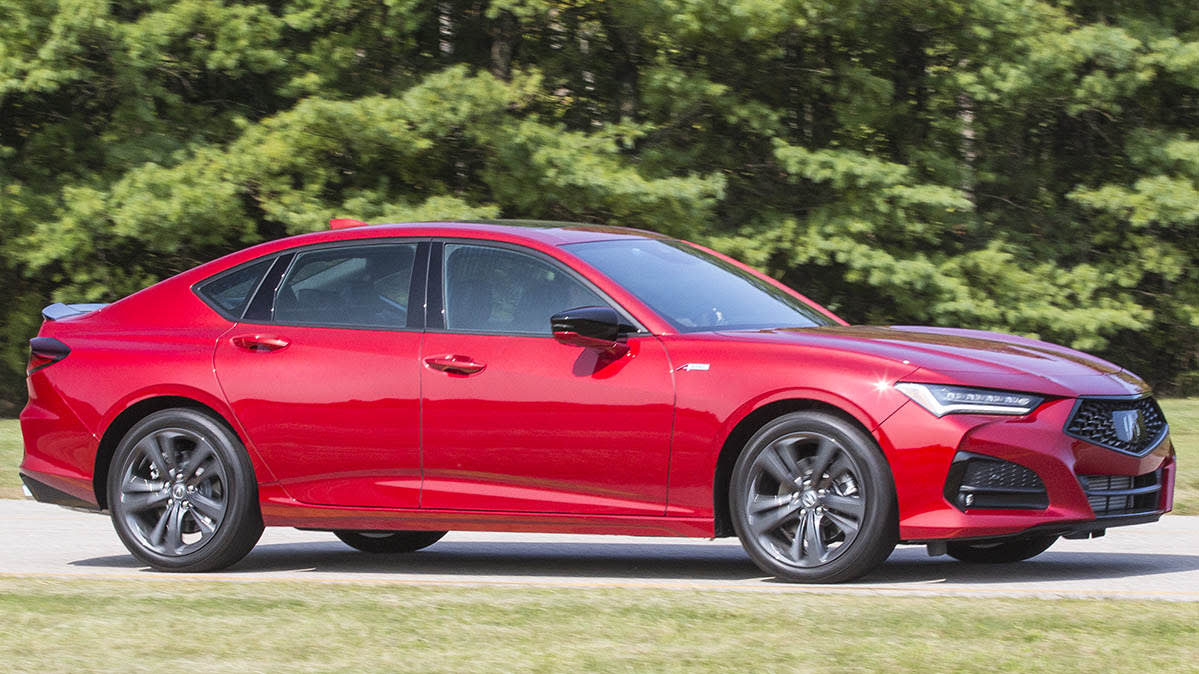 2021 Acura TLX Type S front three-quarters view