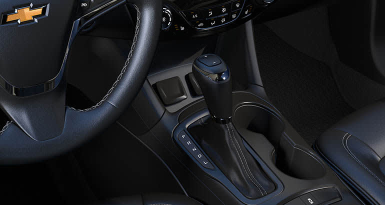 The shifter of a 2019 Chevrolet Cruze