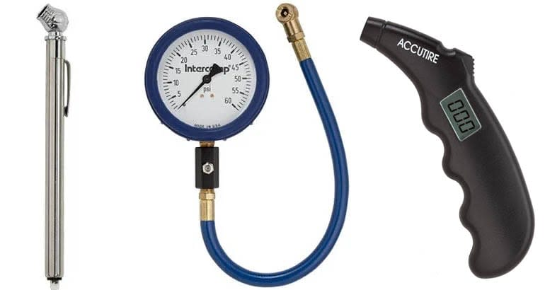 Victor 00876-8, Intercomp 360060, and Accutire MS-4400B tire pressure gauges tire pressure gauges