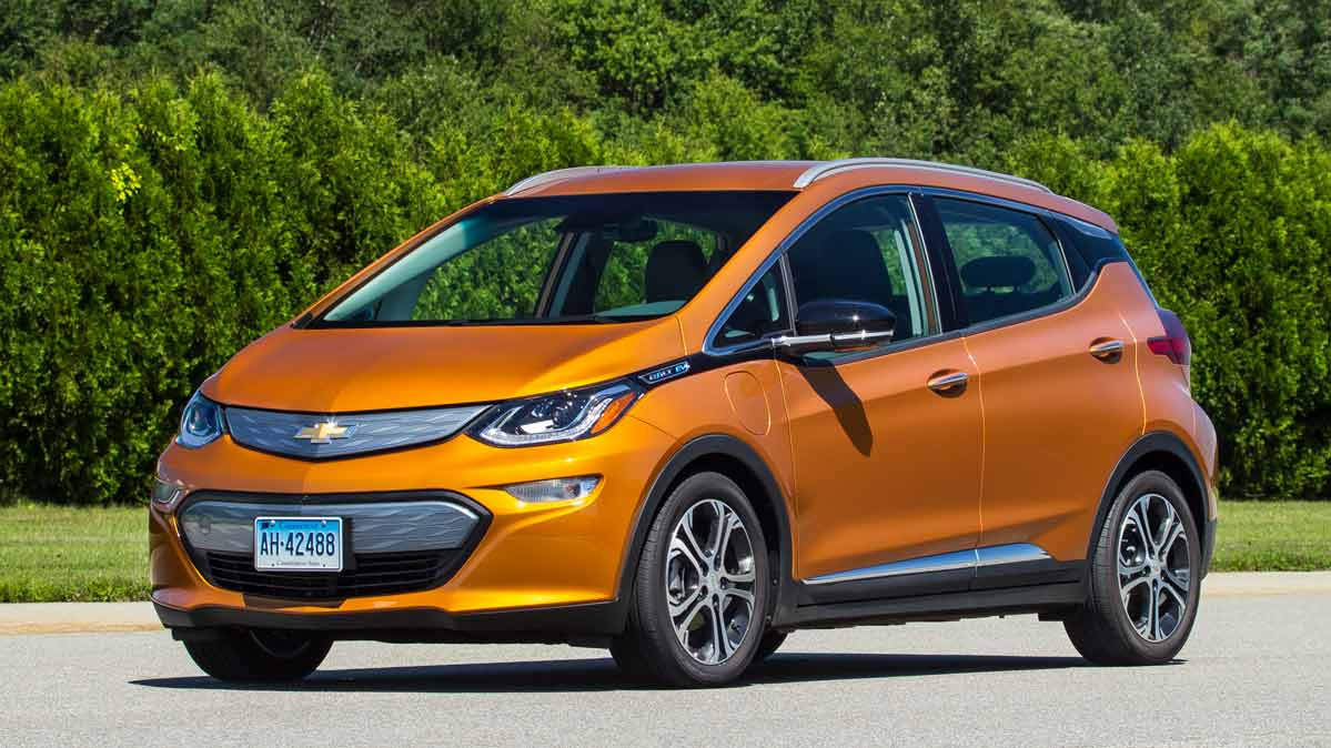 A recalled Chevrolet Bolt EV.