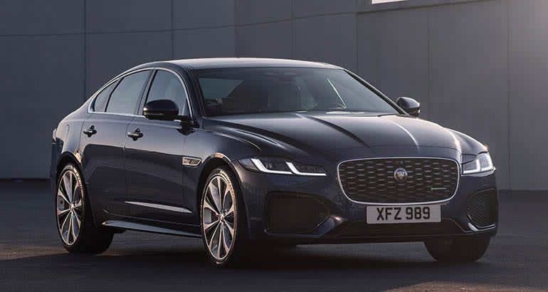 A 2021 Jaguar XF sedan
