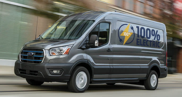 An all-electric 2022 Ford E-Transit