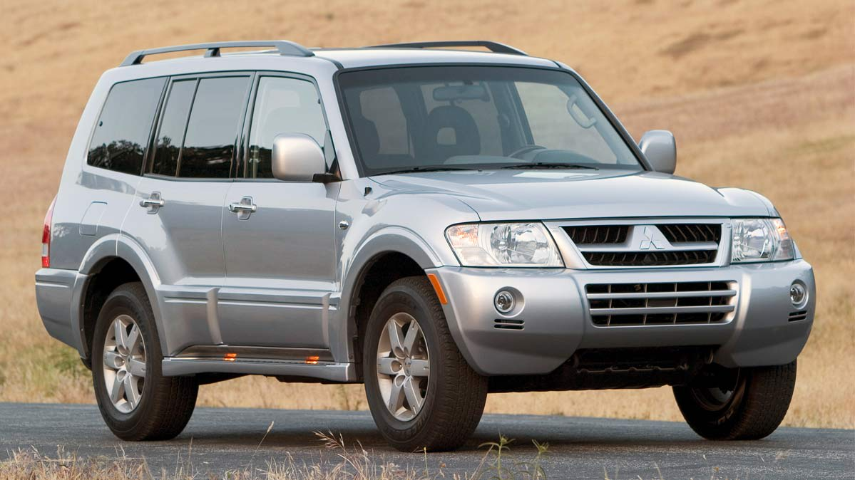 The Mitsubishi Montero, a recalled vehicle.