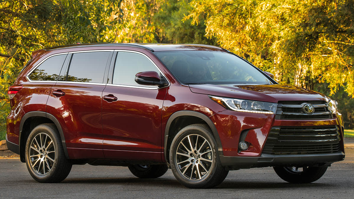 2017 Toyota Highlander, which is a reliable midsized SUV.