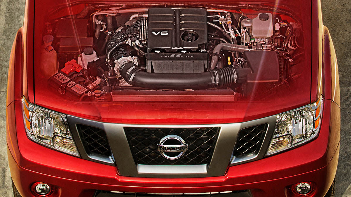 The new V6 engine in the 2020 Nissan Frontier