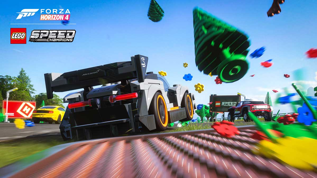 Cover of the Forza Horizon: Lego Speed Champions video game.