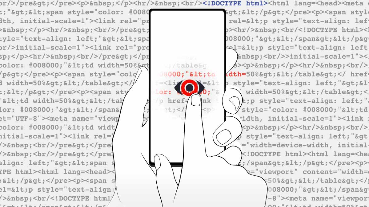 Illustration of a smartphone depicting an app and consumer data privacy