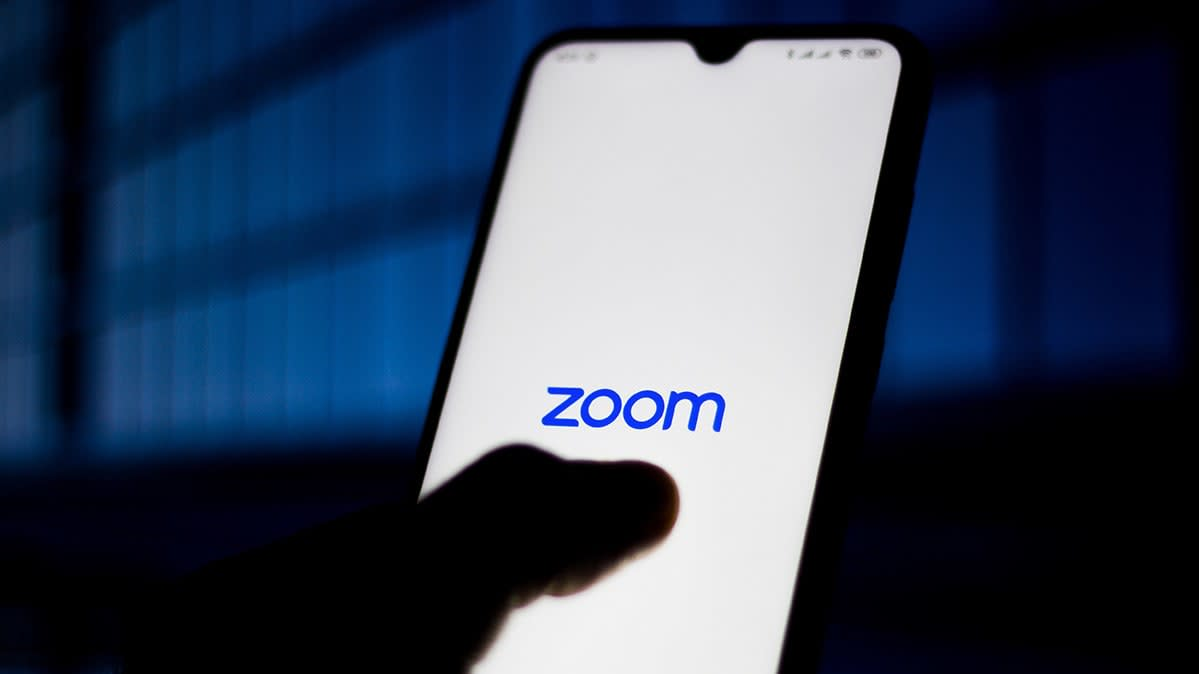 The Zoom app on a smartphone.