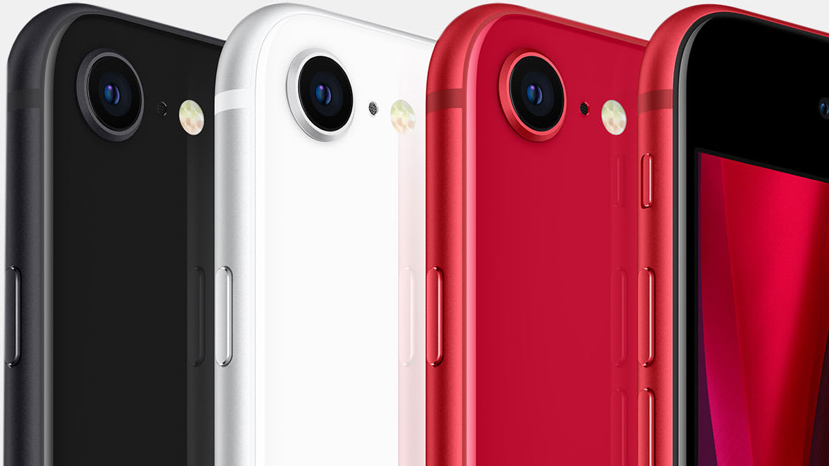 Apple's new iPhone SE comes in black, white, and red.