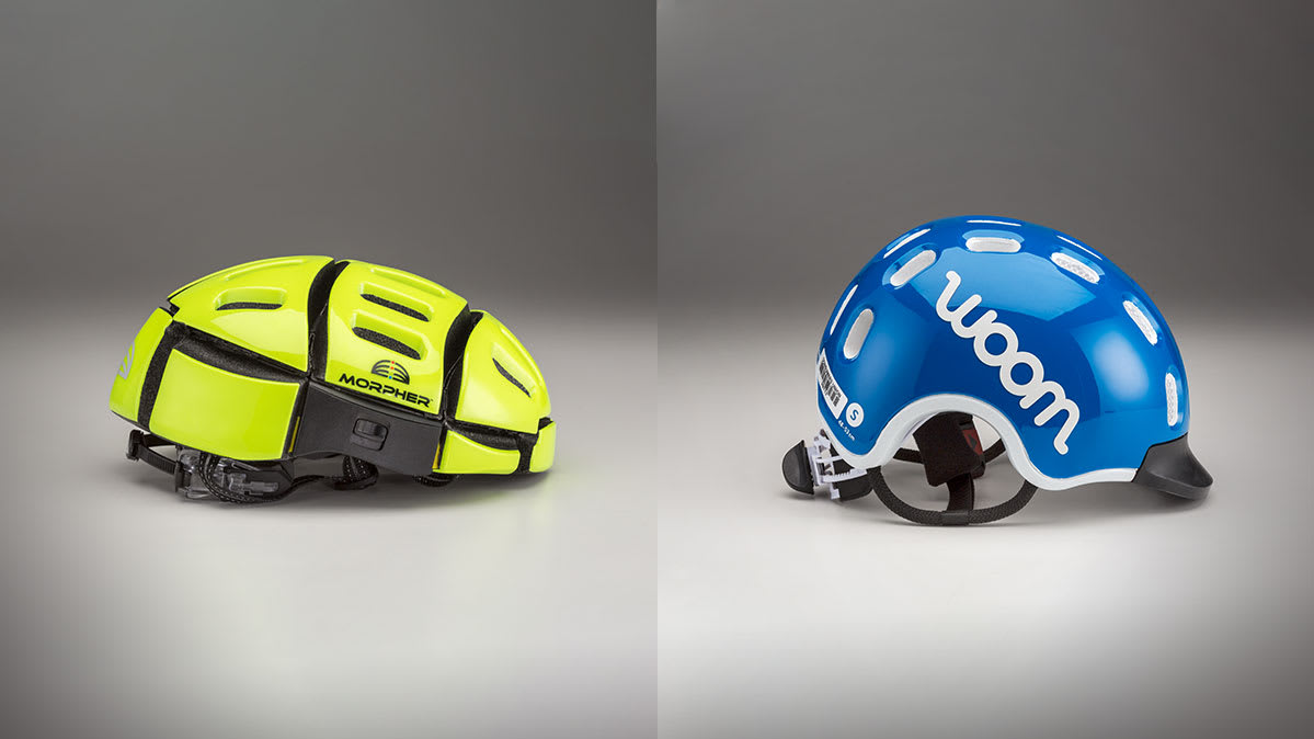 The Morpher folding helmet and Woom children's helmet are two bike helmets that failed Consumer Reports safety tests and have been recalled.