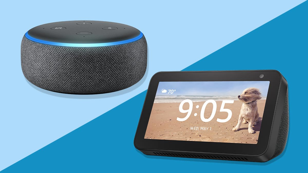 Amazon Echo Dot and Echo Show 5 smart speakers