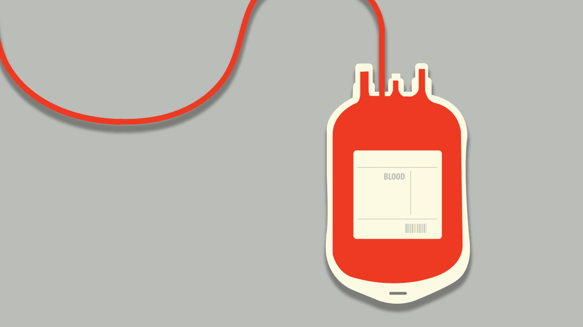 Illustration of a blood bag from blood donation