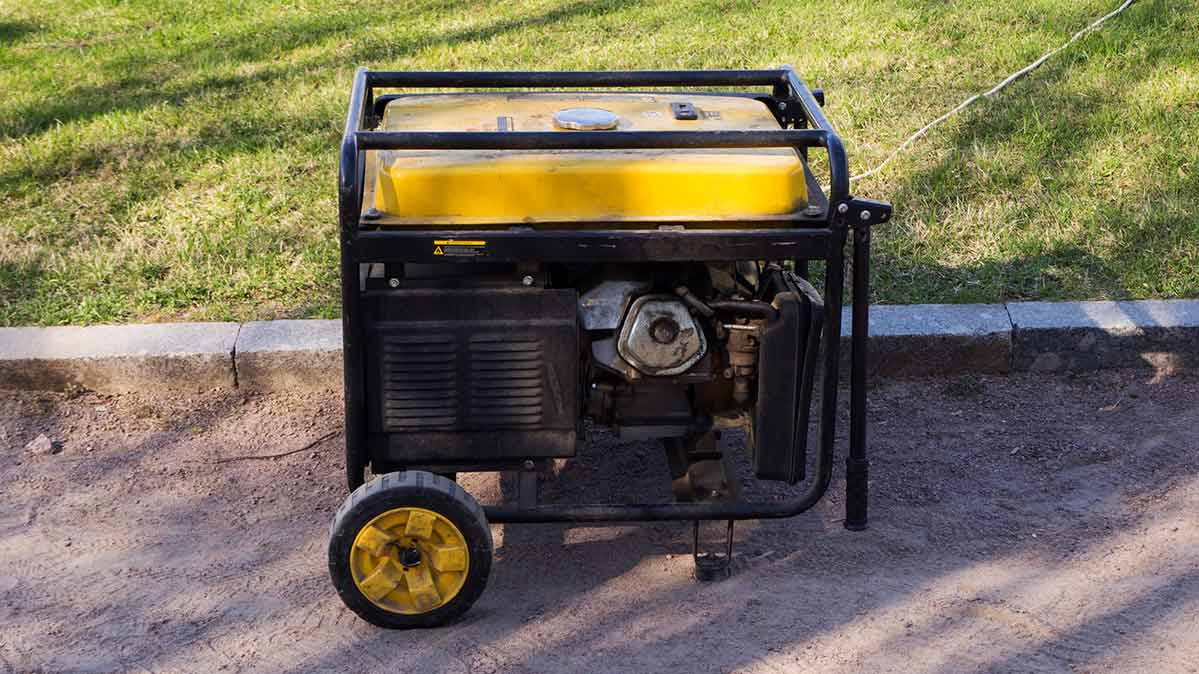 Photo of a yellow portable generator