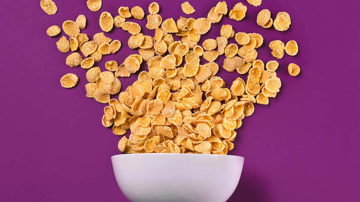 An image of a bowl of cornflakes.