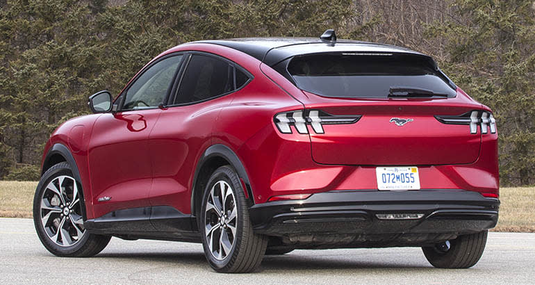 2021 Ford Mustang Mach E rear view