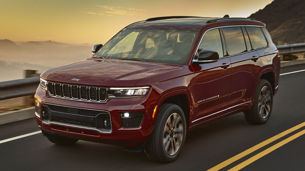 2021 Jeep Grand Cherokee L front driving
