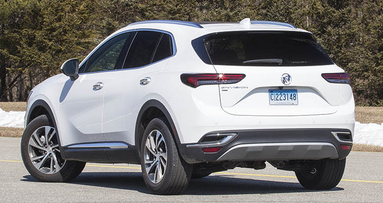 2021 Buick Envision rear three-quarters view
