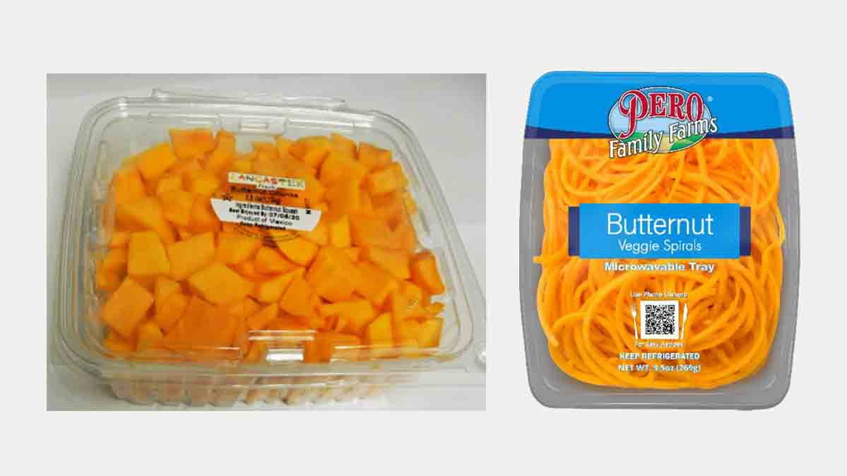 Companies involved in the butternut squash recall