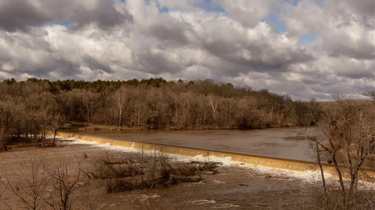The Haw River in Pittsboro, N.C.