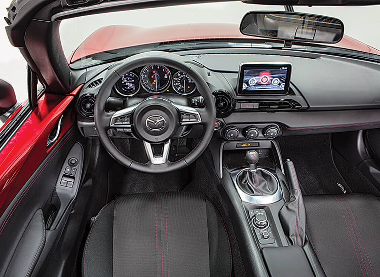 Interior of the 2016 Mazda MX-5 Miata