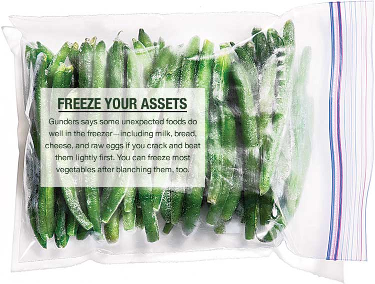 Freezing vegetables and a grocery list can cut food waste
