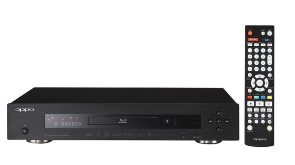 An Oppo BDP-103 Blu-ray player.