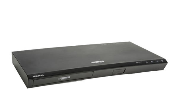 A Samsung 4K ultra HD Blu-ray player.
