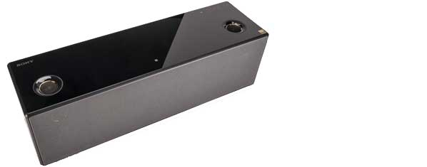 Picture of a speaker with both wi-fi and bluetooth capability.