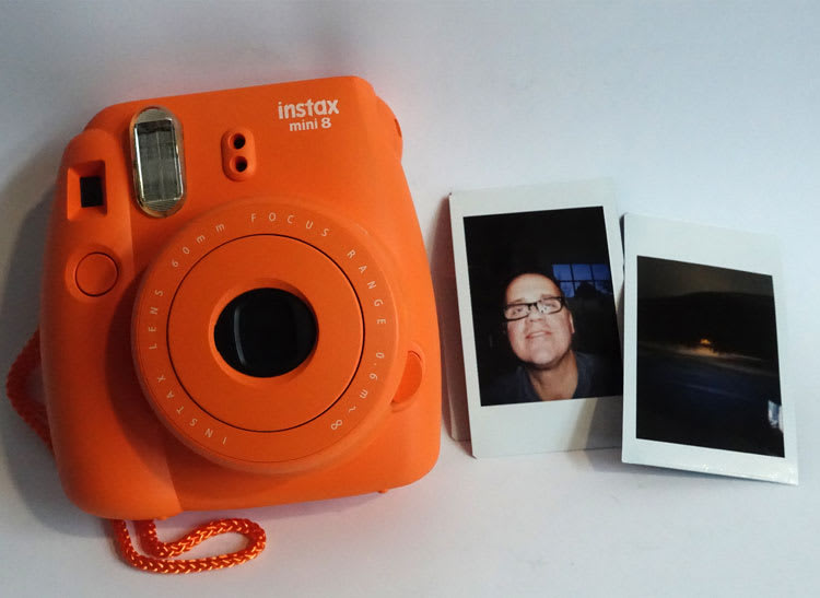 This is a photo of the Fujifilm Instax Mini 8 Instant Camera