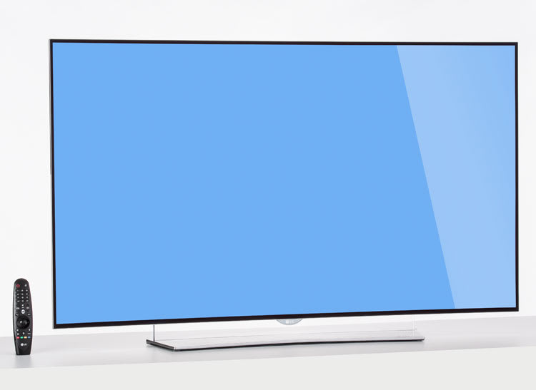A photo of the LG 55EG9600 55-inch OLED TV.