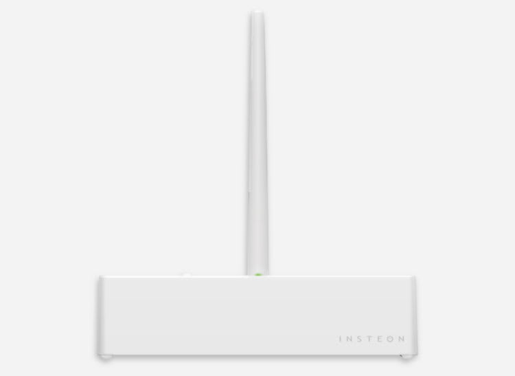 White Insteon water leak sensor for home automation
