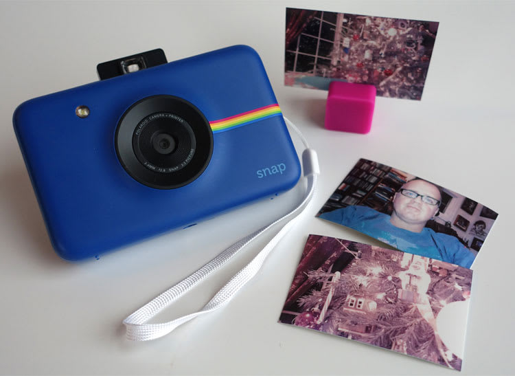 This is a photo of a Polaroid Snap Instant Camera