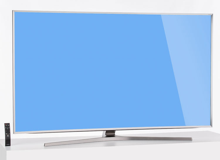 A photo of the Samsung UN65JS9500 65-inch LED LCD UHD TV.