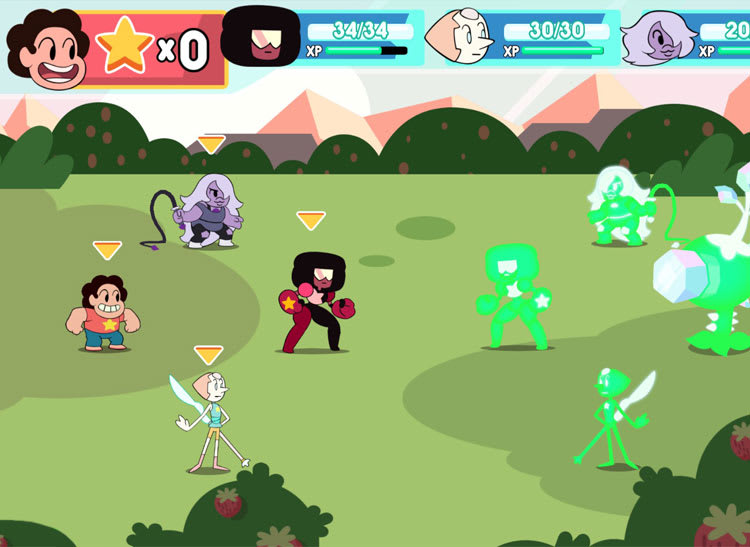 Steven Universe screen shot for article on best mobile games for kids