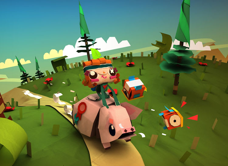 Tearaway screen shot for article on best mobile games for kids
