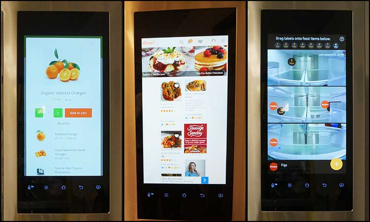 Screens on the Samsung Family Hub Refrigerator