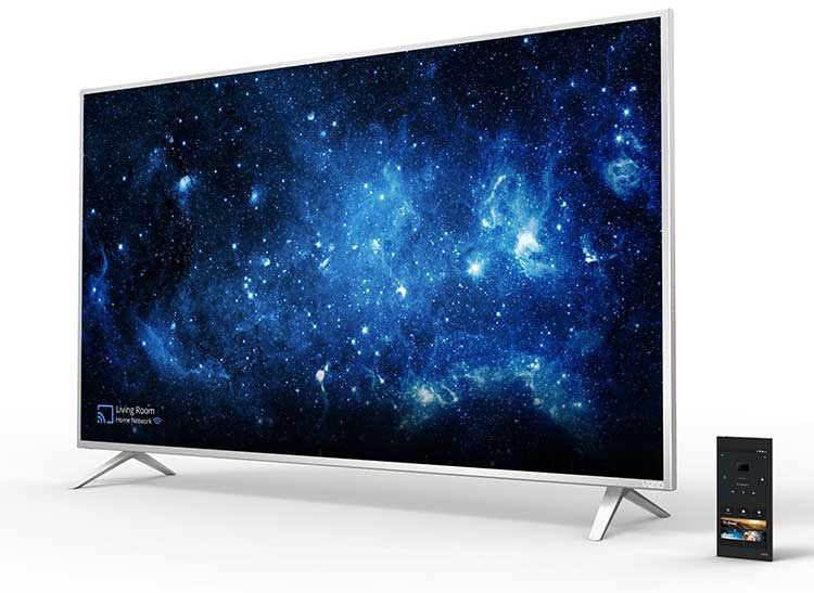 The Vizio P65-C1 4K TV, with its tablet remote, is among the best 4k TVs for bargain-hunters.