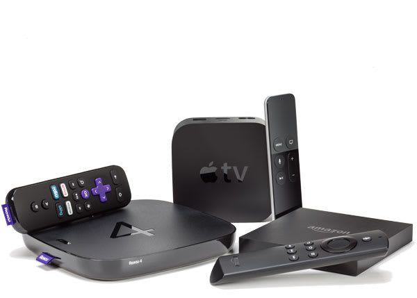 Various streaming media players.