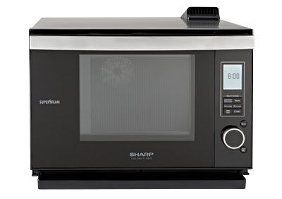 A built-in microwave oven.
