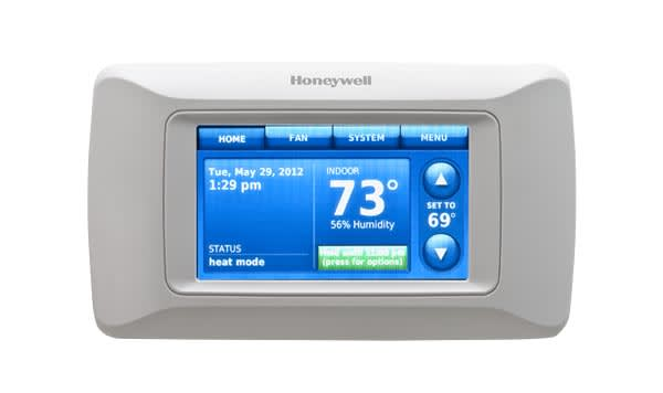 A thermostat without remote access capabilities.