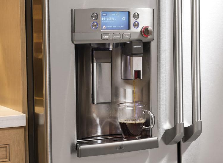Ge Cafe Refrigerator Has A Keurig