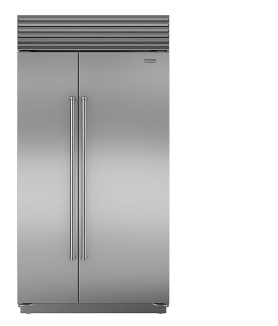 A built-in refrigerator.