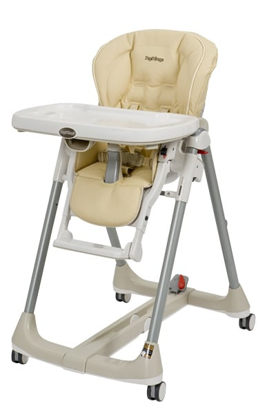 Photo of a traditional high chair.