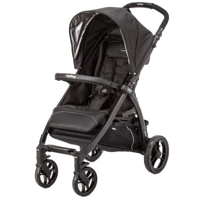 A single traditional stroller.