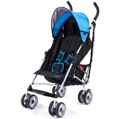 A lightweight umbrella stroller.