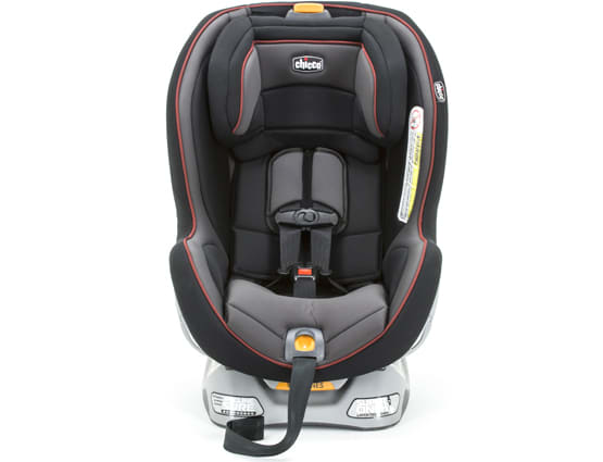 A convertible car seat for children.